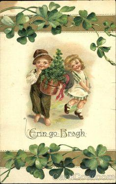 Patrick's Day Vintage Postcards – St. Patrick's Day St Patricks Day Cards, Happy St Patricks Day, Saint Patricks, Vintage Cards, Vintage Postcards, Images Vintage, Vintage Magazines, Vintage Pictures, Fete Saint Patrick