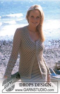DROPS Crocheted cardigan in Cotton Viscose ~ DROPS Design