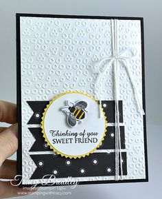 Golden Honey Designer Series Paper - Stamping With Tracy Set Honey, Small Bees, Golden Honey, Bee Cards, Making Greeting Cards, Heartfelt Creations, Card Sketches, Paper Cards, Stamping Up