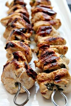 Lemon Chicken Kebabs ~ Let's Cook Something Today