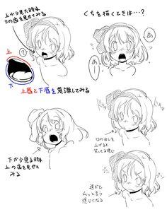 Twitter / yohukasi: 口を描くとき僕が注意してるのはこの辺りっすかねー、漫画だと形 ...