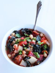Chickpea and Kale Soup | POPSUGAR Fitness