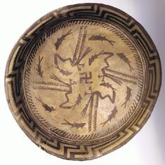 One the earliest forms of the swastika was on this plate from Samarra, Iraq (north of Baghdad), dated to about 5000 BCE. Some theorize it represents the Milky Way spiral. Others says it represents the birth of human History Of The Swastika, World Teachers, Cradle Of Civilization, Ancient Mesopotamia, Susa, Sumerian, Intelligent Design, Historical Pictures, Milky Way