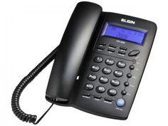 Telefone com Fio Elgin Identificador de Chamadas - 42TCF3000 - Viva Voz Visor LCD Calculadora