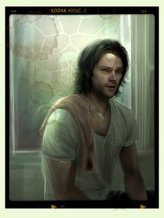 Portrait of Sam Winchester (CG painting), done for my Journal of a Man of Letters project. 2013. (by P.m VonApple)