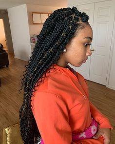 hairstyles that you can do with box braids - hairstyles you can do with box braids . hairstyles that you can do with box braids . cute hairstyles you can do with box braids Big Box Braids, Braids With Curls, Box Braids Styling, Braids For Black Hair, Girls Braids, Medium Box Braids, Jumbo Box Braids, Blonde Braids, Messy Braids