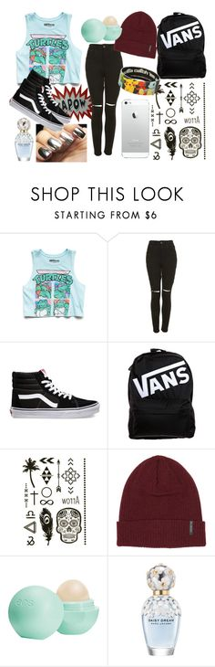 """(()) :"" by juste-moi ❤ liked on Polyvore featuring Forever 21, The Ragged Priest, Vans, Billabong, Eos and Marc Jacobs"