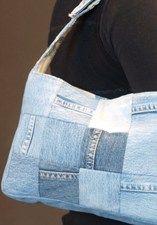 Originele tas van oude spijkerbroeken