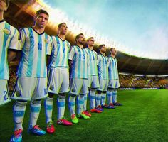 Argentina 2014 World Cup Home and Away Kit Leaked. The new Argentina 2014 Home Kit comes with black Adidas stripes and a white short. Argentina 2014 World Cup Away Kit features gold applications. Time Da Argentina, Argentina World Cup, Brazil World Cup, World Cup Russia 2018, World Cup 2014, Fifa World Cup, Argentina Football Team, Argentina Team, Messi Argentina