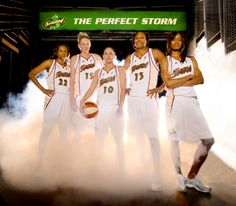 The Perfect Storm - So many super stars. Sheryl Swoopes, Lauren Jackson, Sue Bird, Yolanda Griffith, and Swin Cash...wow!