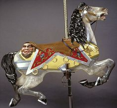 The 'pirate horse' on Cafesjian's Carousel, St. Paul, MN. The least ridden carousel in the world... it was operated for only 10 days the first 60 years of its existence.