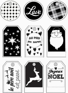 Pince-mi et Pince-moi: ▲ Printables de dernière minute : les étiquettes cadeaux noir et blanches ▲