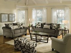 value city furniture living room sets painting white 25 best sofantastic giveaway images valuecitypinittowinit colette grey loveseat new
