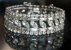 B. David Vintage Rhinestone Bracelet