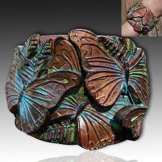 Adi's butterflies polymer clay cuff
