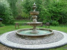 Fountain, Patio, Collages, Garden, Outdoor Decor, Lab, Charlotte, Home Decor, Fonts