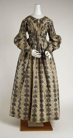c. 1837 dress, British. Cotton. The Met, 1983.241.1