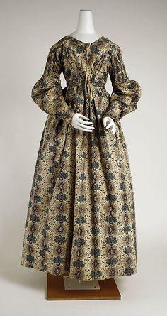 British Cotton Dress 1837