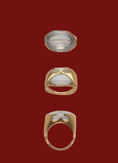 Gold Ring Set with a Large Rock Crystal  Roman, 3rd century