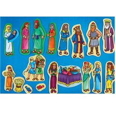 Beginner Bible Story of Ruth & Esther Flannelboard Figures - Pre-Cut