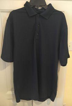 Grand Slam Mens Navy Blue Golf Shirt Short Sleeve Size Medium EUC #GrandSlam #PoloRugby