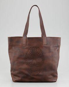 Frye - Skull Tote Bag, Maple