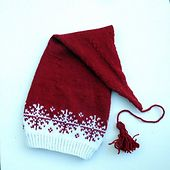 Christmas Santa hat : English and Norwegian pattern hat kids english Langlue - nisselue/ Santa hat Beanie Knitting Patterns Free, Double Knitting Patterns, Fair Isle Knitting Patterns, Christmas Knitting Patterns, Baby Hats Knitting, Knit Patterns, Knitted Hats Kids, Crochet Hats, Knit Stitches For Beginners