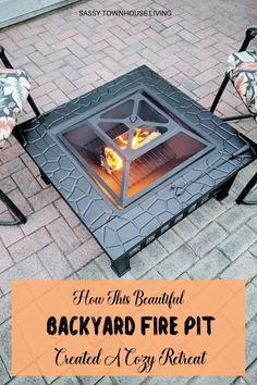 How This Beautiful Backyard Fire Pit Created A Cozy Retreat - Sassy Townhouse Living There's one surefire way to cozy up your space, and that's with a backyard fire pit. By adding one, you'll find years of warmth and beauty to enjoy. #BackyardFirePit #FirePit @Costoffs #CozyBackyardFirePit