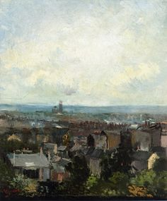 VINCENT VAN GOGH - VIEW OF PARIS FROM NEAR MONTMARTRE 1886 44x37cm oil/canvas  Dublin, National Gallery of Ireland Painted in 1886, the year of the final Impressionist exhibition, this work reveals how van Gogh's style was deeply rooted in the Dutch Realist tradition when he first arrived in Paris.