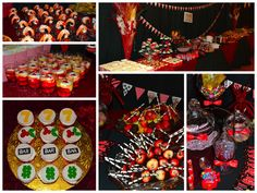 vegas themed party | Food was a plenty! Casino themed sweets, novelty candies from the 80 ...