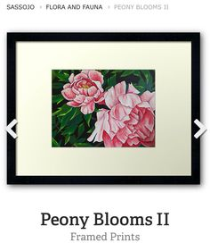 Peony Blooms II in acrylics. Framed prints avail at www.redbubble.com/people/SassoJo