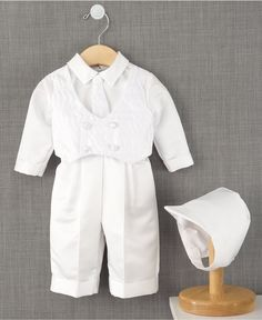 Lauren Madison Baby Suit, Baby Boys Christening Suit with Hat - Kids - Macy's
