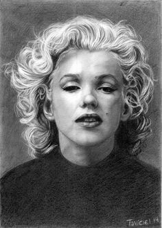 Marilyn Monroe by LeicinatR  | This image first pinned to Marilyn Monroe Art board, here: http://pinterest.com/fairbanksgrafix/marilyn-monroe-art/ || #Art #MarilynMonroe