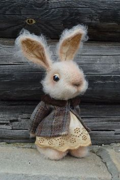 Needle Felted / Sweet Little Rabbit #feltanimalsdiy #feltedpuppy