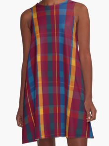 Red Plaid A-Line Dress  by Scar Design #summerclothing #summervacationsdress #beachdress #beach #summerfashion #giftsforher #gifts #giftsforteens #summergifts #womensfashion #hipster #colorful #style #swag #sunset #sunsetdress #dress #summerdress #summer2016 #buydress #Alinedress #buydresses