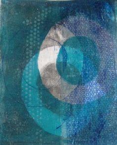 Niki Cotton Art - Gelli Printing