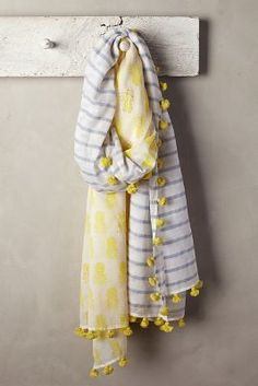 pineapple and stripes scarf #pineapple #scarf