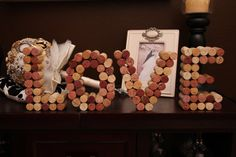 Wine Cork Letters  Love by IdoCustomsEvents on Etsy, $40.00...  So much fun and easy to make!