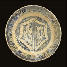A Mamluk blue and white pottery bowl, Syria, 14th-15th century