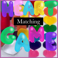 Felt heart matching game DIY Color Unit, Unit Plan, Community Helpers, Diy Games, School Themes, Tot School, Matching Games, Free Coloring, Infants