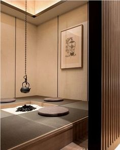 Japanese tea room replaces the family room Japanese Style House, Japanese Interior Design, Japanese Design, Contemporary Interior Design, Modern Interior, Store Concept, Washitsu, Japan Interior, Cafe Interior
