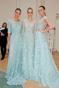 Elie saab blue wedding dress style