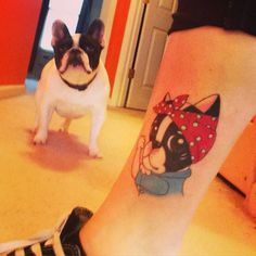 Izzi the Rivetor - French Bulldog tattoo - Rosie the Rivetor