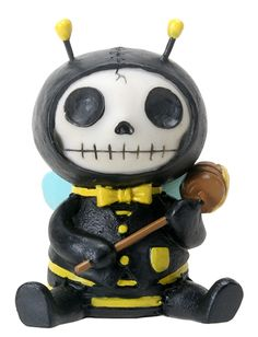 Bumble Bee Buzz Furry Bones Skellies Figurine [8411S] - $7.99 : Mystic Crypt, the most unique, hard to find items at ghoulishly great prices!