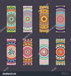 Banner Card Set With Floral Colorful Decorative Mandala Elements Background. Tribal,Ethnic,Indian, Islam, Arabic, Ottoman Motifs. Стоковая векторная иллюстрация 487698013 : Shutterstock