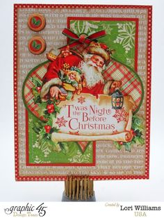 Stunning 'Twas the Night Before Christmas card by Lori #G45GiftHowTos #graphic45