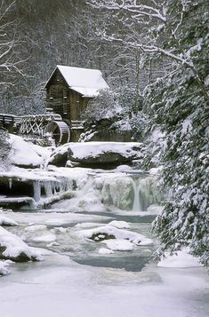 The mill in winter.
