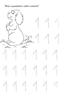 Numerais - Números de 0 a 10 para cobrir e colorir Número 0 - cobrir e colorir Número 1 - cobrir e colorir Número 2 - cobrir. Numbers Preschool, Preschool Math, Teaching Math, Kindergarten Math Worksheets, Kindergarten Lessons, Preschool Activities, Early Childhood Education Online, Math For Kids, Kids Education