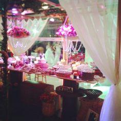 Evento Recital Fermata. Mesa de bolo. Inspiração: Café.  Germano♡Elza.