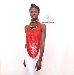 WELAMA NECKLACE beads ankaraafrican print necklace ankara